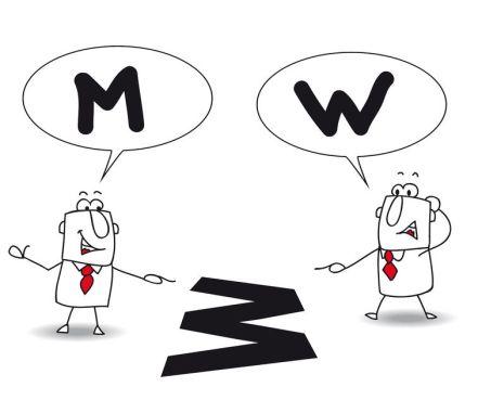 w vs m